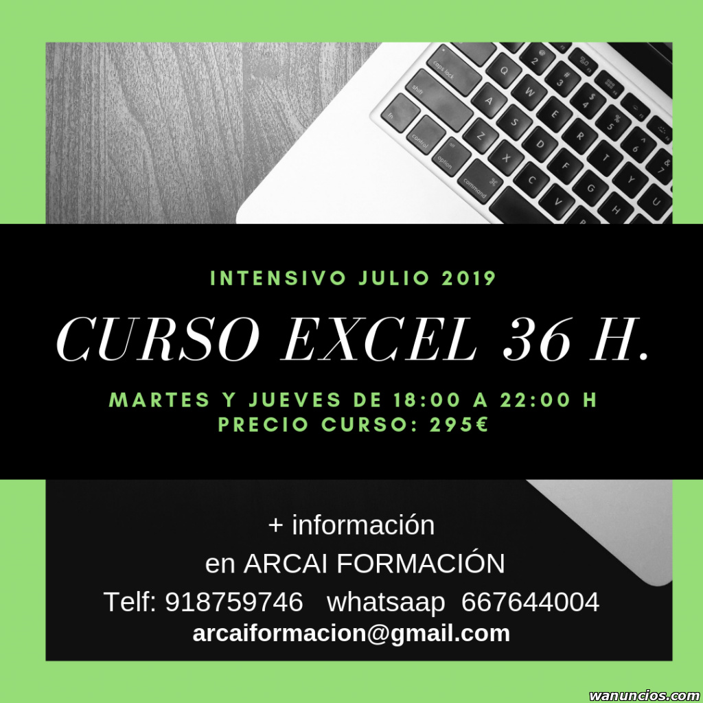Curso intensivo Excel - Madrid