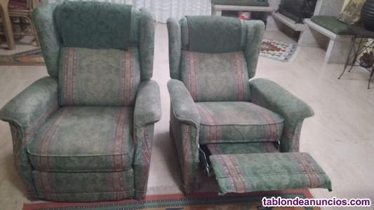 2 sofás reclinables por 90 euros