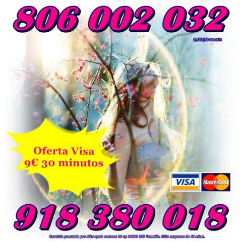Tarot y Videncia por visa 9€ 30 min. Tarot 806 sólo 0,42