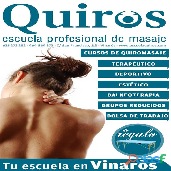 Curso Intensivo Especialista en Quiromasaje y Terapias