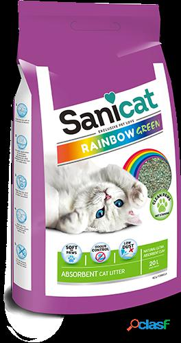 Sanicat Rainbow Green para Gatos 20 L