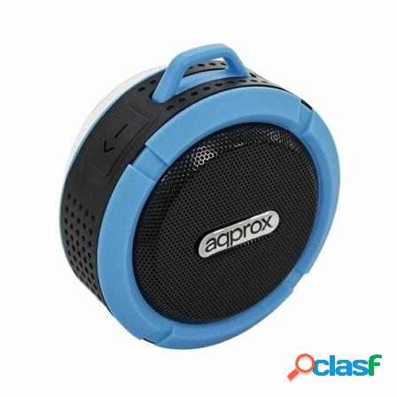 Altavoz bluetooth approx appspwpbbl black blue - 3w rms -