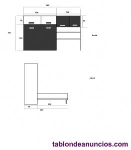 Mueble con cama abatible de 135