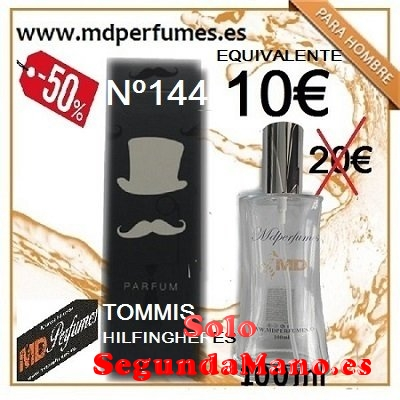Perfume equivalente Hombre Nº144 tommis Hilfingheres 100ml