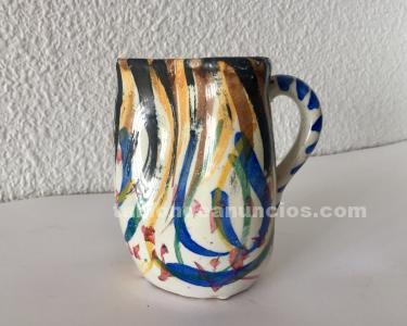 Jarrita de cerámica de toledo con firma