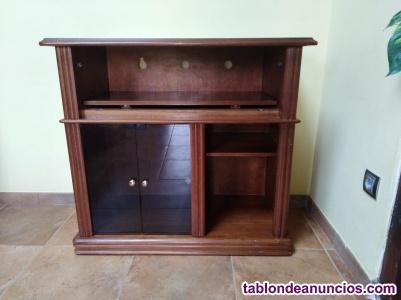 Vendo mueble para televisión de madera