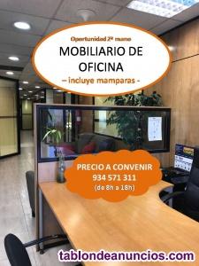 Mobiliario de oficina - incluye mamparas -