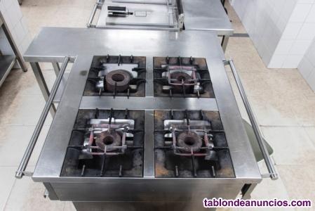 Cocina de gas 4 fuegos central jemi