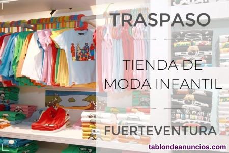 Se traspasa boutique de moda infantil en fuerteventura