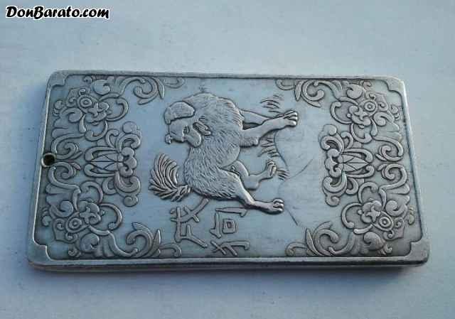 Hermoso lingote de plata tibetana año del perro ho