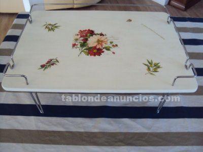 Preciosa bandeja de cama años 50 (restaurada con tecnica