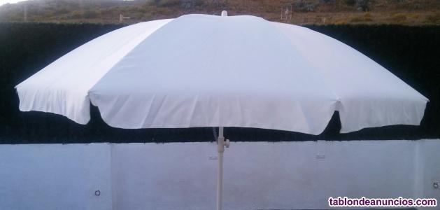 Sombrilla blanco-hueso, de 250 cm