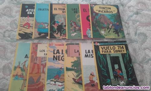 Vendo lote tintin 5 ejemplares (encuadernacion rustica)(ver