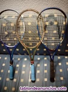 Vendo tres raquetas de tenis