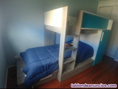 Habitación infantil tipo tren