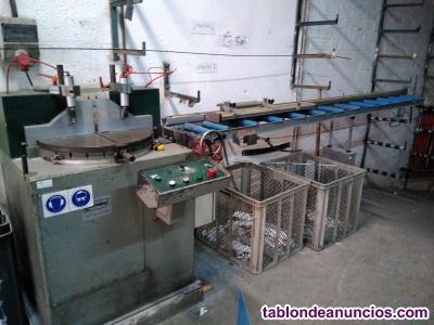 Se vende lote.de maquinaria para aluminio