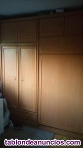 Vendo mueble con armario y cama abatible vertical