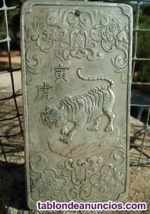 Precioso lingote de plata tibetana  gramos. Excelente