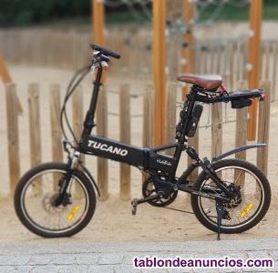 Bicicleta eléctrica plegable impecable