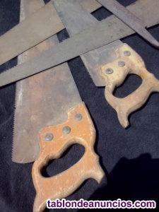 Sierras de carpintero antiguas.todo el lote junto.