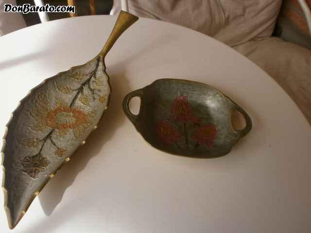 Hoja y bandeja asas de bronce
