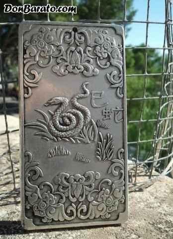 Lingote budista de plata tibetana  gramos. e