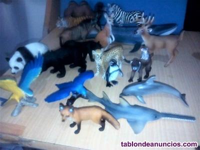Colección de 80 animales de juguete marca schleich