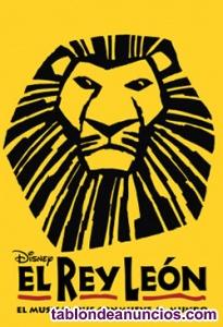 2 entradas para el musical el rey león agosto