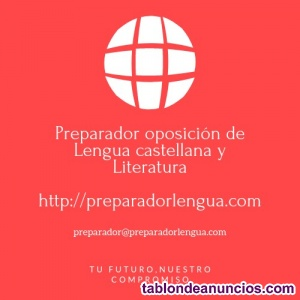 Preparador oposiciones de lengua castellana y literatura