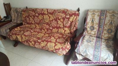 Se vende sofa y 2 sillones