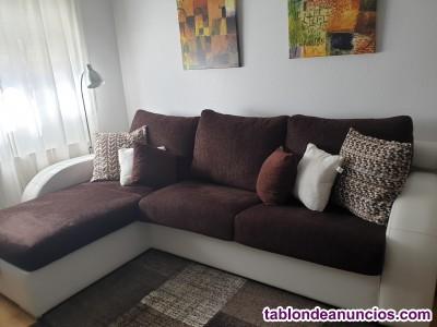 Sofá cama chaiselongue 3 plazas