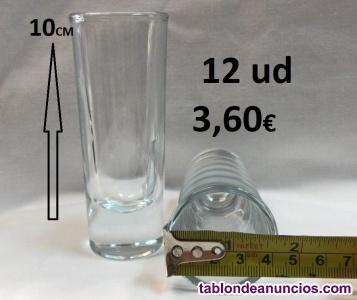 Vasos de chupitos 59ml vidrio alta calidad 12x3,60€