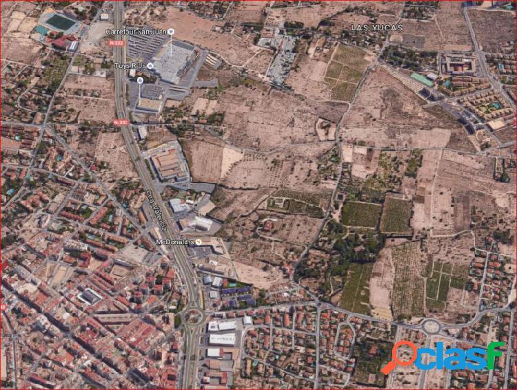 80.000 metros cuadrados urbanizables en San Juan, carretera