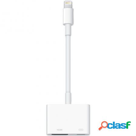 Adaptador de conector lightning a av digital hdmi -