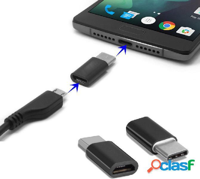 Adaptador micro usb a usb c 3. 1, color negro