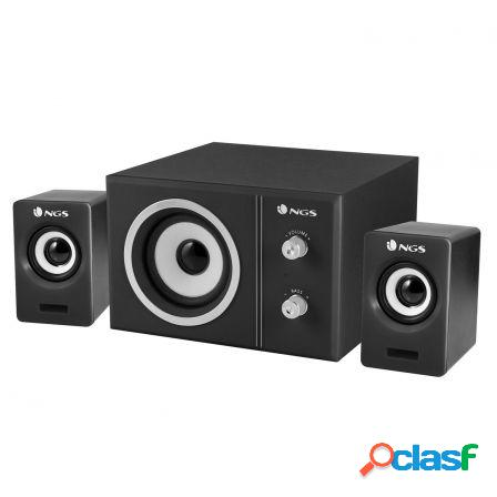 Altavoces 2.1 ngs sugar - 20w - subwoofer madera - control
