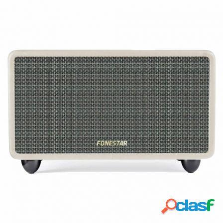 Altavoz bluetooth fonestar bluevintage-45b crema - 2x20w -