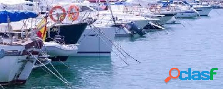 Amarre de 8 mts, opcional barco.