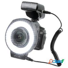Anillo de luz led con flash para fotografías en plano corto