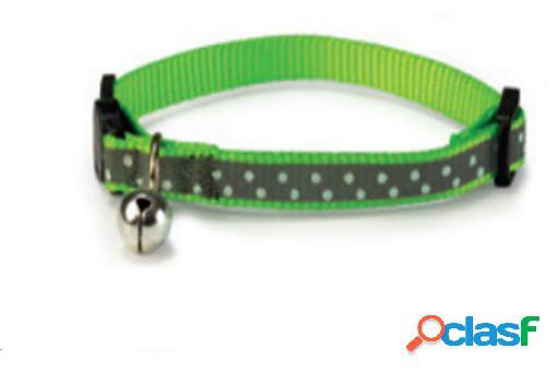 Arquivet Collar Gato Reflectante Verde 1X20/25 Cm Verde