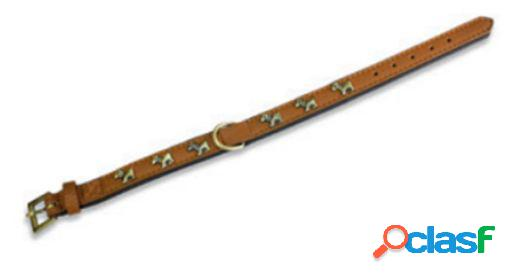 Arquivet Collar Piel Perro 2,5 X 50 Cm. Marrón