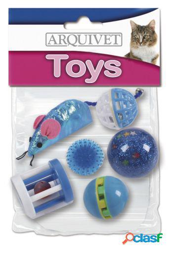 Arquivet Kit 6 Juguetes Para Gatos Azul
