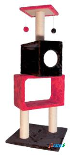 Arquivet Rascador Rojo Y Negro 50X50X124Cm