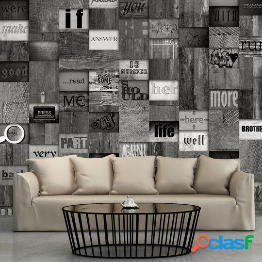 Artgeist Papel Pintado - Mosaic of Words