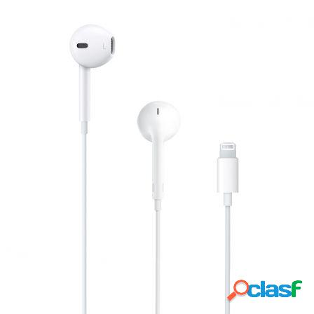 Auriculares earpods con conector lightning de apple con