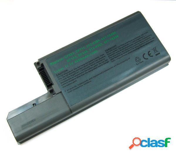 Bateria para Dell Latitude D531, D820, D830, 6600 mAh, gris