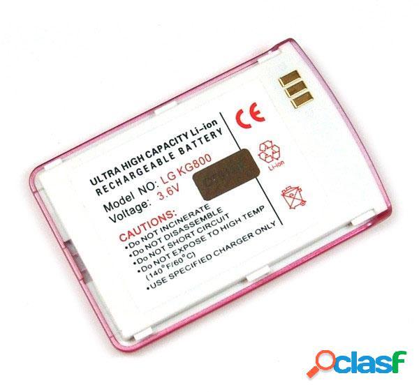 Bateria para Lg Kg800 chocolate color rosa, Litio Ion