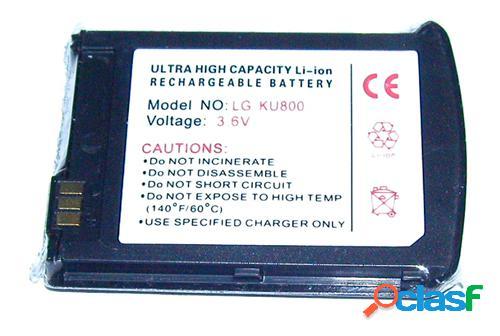 Bateria para Lg Ku-800, Ku800 Polymer Chocolate color negro