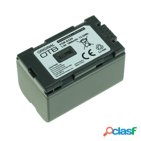 Bateria para Panasonic Cgr-D220 Litio Ion 1800 mAh