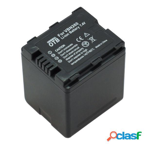 Bateria para Panasonic Vw-Vbn260 Litio Ion 2000mAh